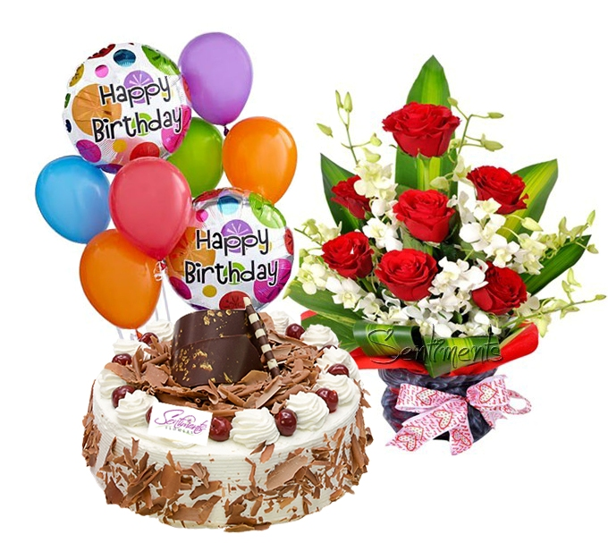 Cake Flowers Ballons