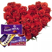 Sweet rose& chocolate hamper