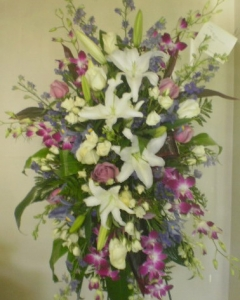orchids & lilies Sympathy Standing